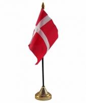 Polyester deense vlag voor op bureau 10 x 15 cm