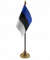 Polyester estlandse vlag voor op bureau 10 x 15 cm