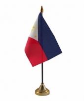 Polyester filipijnse vlag voor op bureau 10 x 15 cm