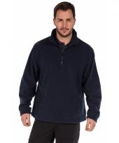 Polyester fleece trui blauw voor heren