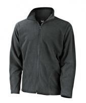 Polyester fleece vest grijs voor heren