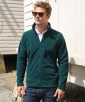 Polyester fleece vest groen voor heren