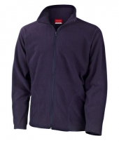 Polyester fleece vest navy voor heren