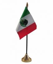 Polyester mexicaanse vlag voor op bureau 10 x 15 cm