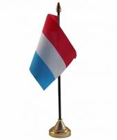 Polyester nederlandse vlag voor op bureau 10 x 15 cm