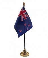 Polyester nieuw zeelandse vlag voor op bureau 10 x 15 cm