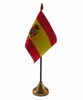 Polyester spaanse vlag voor op bureau 10 x 15 cm
