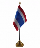 Polyester thaise vlag voor op bureau 10 x 15 cm