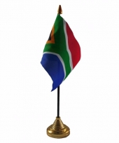 Polyester zuid afrikaanse vlag voor op bureau 10 x 15 cm