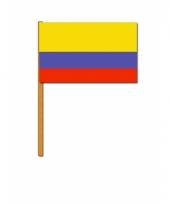 Polyester zwaaivlag van colombia