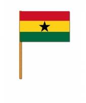 Polyester zwaaivlag van ghana