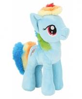 Pony knuffeldier blauw rainbow dash 24 cm