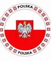 Poolse vlag print bierviltjes