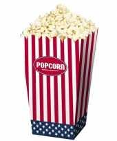 Popcornbakjes van papier usa 12 stuks