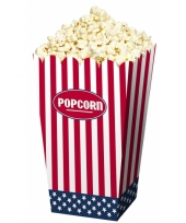 Popcornbakjes van papier usa 4 stuks