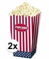 Popcornbakjes van papier usa 8 stuks