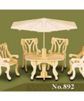 Poppenhuis meubeltjes voor tuinset
