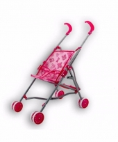 Poppenwagen buggy roze