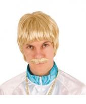 Pornstar pruik heren blond