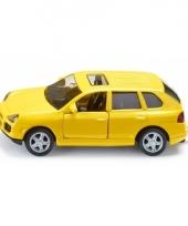 Porsche speelgoed auto geel 1062 siku