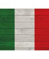Poster van de italiaanse vlag op hout 84 cm