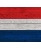 Poster van de nederlandse vlag op hout 84 cm