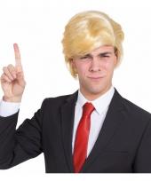 President trump pruik blond