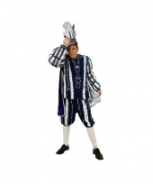 Prins carnaval pak blauw wit