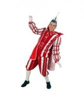Prins carnaval pak rood wit
