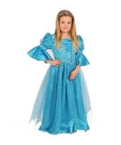 Prinsessen jurk blauw voor meisjes