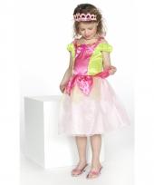 Prinsessen jurkje roze groen voor meisjes