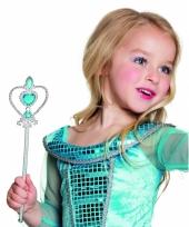 Prinsessen stafje met blauwe diamanten