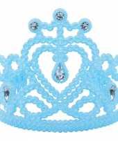 Prinsessen tiara in het blauw