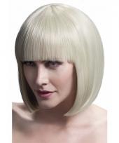 Professionele damespruiken boblijn blond
