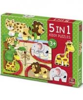 Puzzels met dieren uit de dierentuin