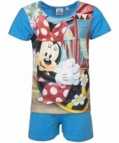Pyjama met blauw korte broek minnie mouse