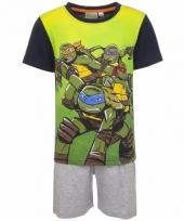 Pyjama met grijze korte broek ninja turtles