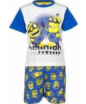 Pyjama met korte broek minion poweblue