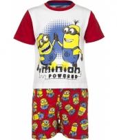 Pyjama met korte broek minion powered