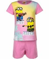 Pyjama met korte broek minions sweet dreams