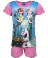 Pyjama met roze korte broek frozen