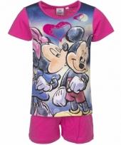 Pyjama met roze korte broek minnie mouse