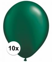 Qualatex donkergroene ballonnen 10 stuks