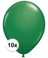 Qualatex groene ballonnen 10 stuks