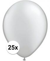 Qualatex metallic zilveren ballonnen 25 stuks