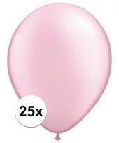 Qualatex parel roze ballonnen 25 stuks