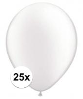 Qualatex parel witte ballonnen 25 stuks