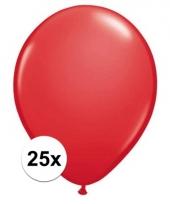 Qualatex rode ballonnen 25 stuks