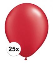 Qualatex ruby rode ballonnen 25 stuks