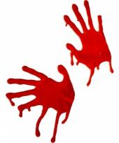 Raamdecoratie bloedige handen